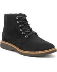 5e59def1c41 TOMS - Mens Black Suede Porter Boots - Lyst