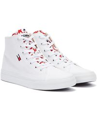 Tommy Hilfiger Tommy Jeans Mid Cut Vulc Trainer - White