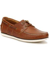Barbour Mens Cognac Capstan Boat Shoes - Brown