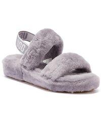 UGG UGG Oh Yeah Womens Purple Slippers