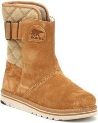 Sorel - Womens British Tan / Elk Newbie Short Boots - Lyst