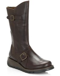 Fly London Mes 2 Wedge Zip Up Boots - Brown