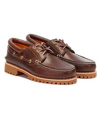 Timberland Mens Brown Traditional 3 Eye Classic Boat Shoes