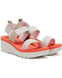 Fly London Yaci Womens White Sandals