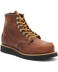 Red Wing Classic Moc Toe Mens Copper Boots - Brown