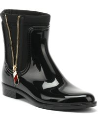 342c03785 Tommy Hilfiger - Material Mix Rain Boot Women s Wellington Boots In Black -  Lyst