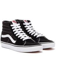 Vans Sk8 Hi / White Sneakers - Black