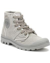 Palladium - Mens Grey Titanium / Hi Rise Pallabrouse Boots - Lyst