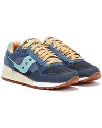 Saucony Shadow 5000 Vintage / Tan Trainers - Blue