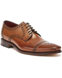 Loake Foley Mens Cedar Brogue Shoes - Brown