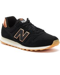 New Balance 373 Womens Black / Rose Gold Trainers