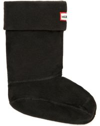 HUNTER - Original Black Fleece Short Welly Socks - Lyst