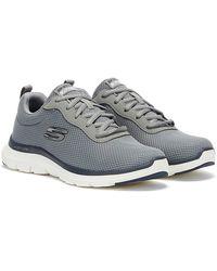 Skechers Flex Advantage 4.0 graue herren sneakers