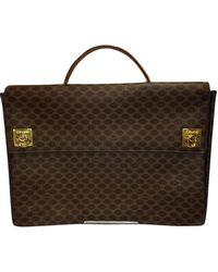 Céline Paris Briefcase Brown/beige Laptop Bag