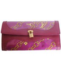 Louis Vuitton Limited Edition Charm Fuchsia Key Lock Pattern Wallet - Pink