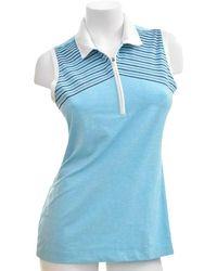 Nike Teal Blue Golf Tour Performance Dri-fit Polo Tank M Activewear Top