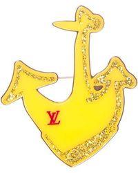 Louis Vuitton Anchor Brooch - Yellow