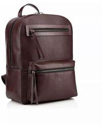 Christian Louboutin Cramoisi Aliosha Leather Backpack - Brown