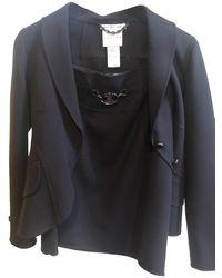 Céline Finition Main Skirt Suit - Brown