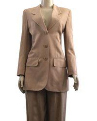 Céline Celine Tan Pants Suit - Brown