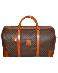 Céline Macadam Duffle Paris Carry In Italy Unisex Leather & Coated Canvas Weekend/travel Bag - Brown