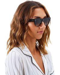 Céline Ombre New Cl 41089/s Small Catherine Cat Eye Sunglasses - Black