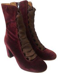 Chloé Burgundy Harper Boots/booties - Multicolour