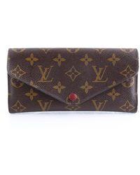 Louis Vuitton Brown/fuchsia Josephine Monogram Canvas Leather Wallet