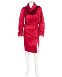Céline Blazer Skirt Suit - Red
