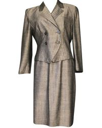 Dior Christian Vintage Skirt Suit - Gray