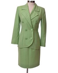 Givenchy Vintage Couture Small Skirt Suit - Green