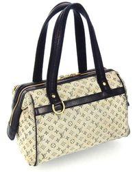 Louis Vuitton Josephine Pm Monogram Mini Lin Canvas Leather Shoulder Bag - Brown