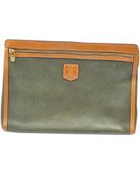 Céline Briefcase Cluthc Leather Laptop Bag - Green