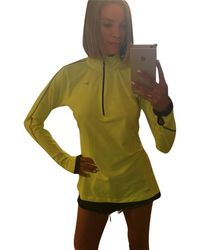 Nike Yellow Pullover Activewear Top