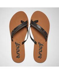 Reef - O''contrare Lx Black Sandals - Lyst