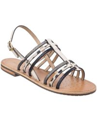Geox - Sozy Buckle S Sandals - Lyst