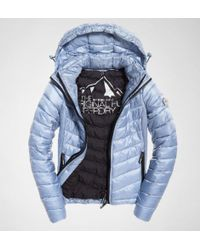 Superdry - Luxe Chevron Fuji Coats & Jackets - Lyst