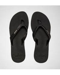Reef - Star Cushion Black Flip Flops - Lyst