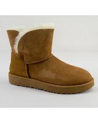 UGG - UGG W Classic Cuff Mini Chestnut Boots - Lyst