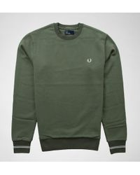 Fred Perry - Fred Perry M2599 Crew Neck Sweat - Lyst