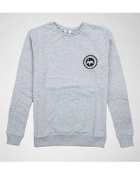 Hype - Flec Crest Crewneck Grey-blue Jumpers & Cardigans - Lyst