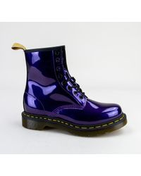 Dr. Martens - Dr Martens 1460 W Vegan Chrome 23922514 Dark Purple Boots - Lyst