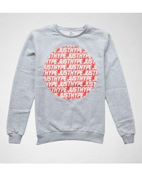 Hype - Mens Crewneck Jh Sporting Grey-red Jumpers & Cardigans - Lyst