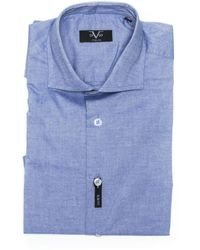 19v69 Italia Slim Fit Shirt Blue 191395011