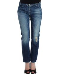 CoSTUME NATIONAL Distressed Boyfriend Jeans Blue Sig12553