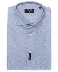 19v69 Italia Slim Fit Shirt Light Blue 191395035