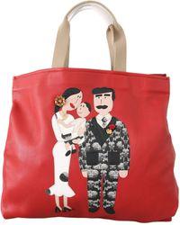 Dolce & Gabbana Black Designer Patch School Backpack Mens Bag