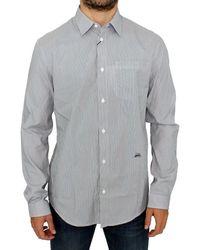Gianfranco Ferré Striped Cotton Casual Shirt Grey Sig10250