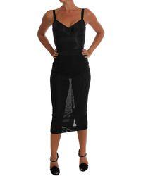 Dolce & Gabbana Black Stretch Romper Body