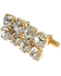 Dolce & Gabbana Brass Clear Crystal Cufflinks Gold Sig31504 - Metallic